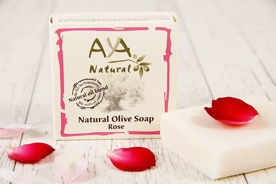 Natural Olive Soap – Rose