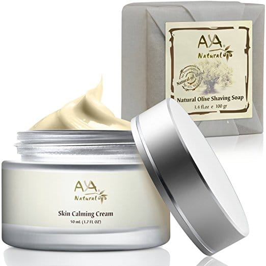 Natural Shaving Soap & Calming Cream Set