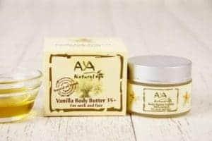 Mantequilla de vainilla para cara y cuello