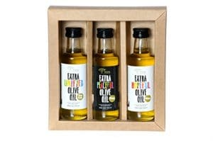 Extra Virgin Olive Oil Gift Set (3 Bottles 100ml /3.4oz)