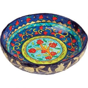 Yair Emanuel Medium Round Bowl: Pomegranates