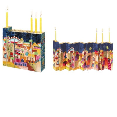 Yair Emanuel Accordion Hanukkah Menorah: Jerusalem
