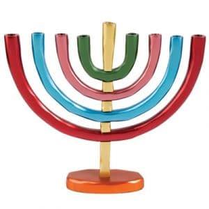 Yair Emanuel Anodized Menorah