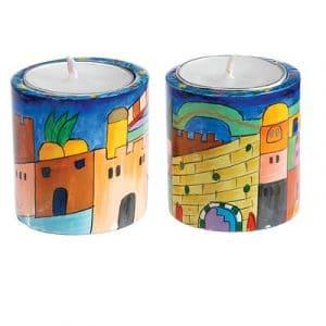 Yair Emanuel Small Round Candlesticks- Jerusalem