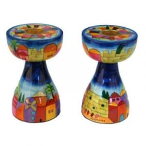 Yair Emanuel Small New Shape Candlesticks- Jerusalem
