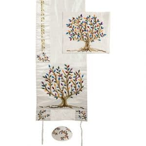 Yair Emanuel Embroidered Talit: Tree of Life