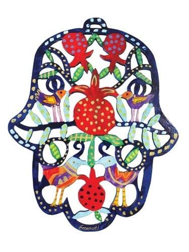 Yair Emanuel Wood Cutout- Pomegranates