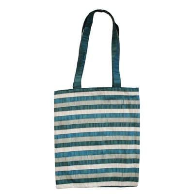 Yair Emanuel Fashion Bag: Blue Patches