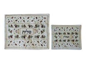 Yair Emanuel Tallit and Tefillin Bags: Pomegranates