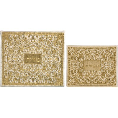 Yair Emanuel Bolsos totalmente bordados Tallit y Tefillin: Oro