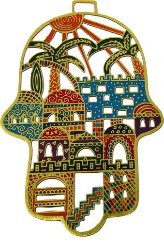 Yair Emanuel Etching Hamsa: Jerusalem