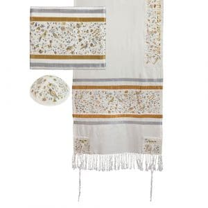 Yair Emanuel Tallit- Embroidered the Matriarchs- silver & gold
