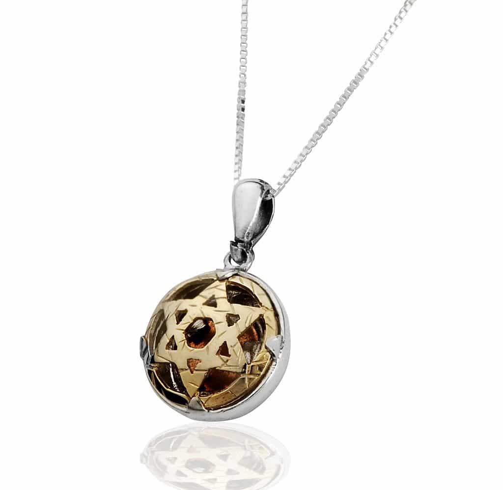 Colgante de 5 Metales Estrella de David