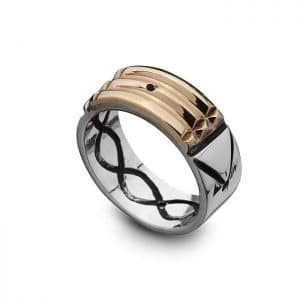 Atlantis Ring - 18K Gold and 950 Silver