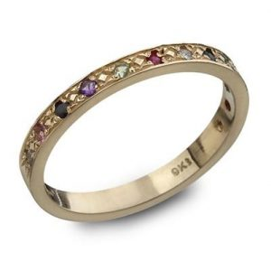 The Twelve Stones Gold  'Hoshen' Ring