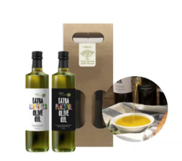 Gift Pack Two bottles of extra-virgin oil, 500 ml each