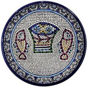 Panes y placa de cerámica de pez