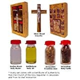 Crucifix with Holy Water, Anointing Oil, Frankincense & Earth from the Holy Land