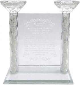 Candelabro de cristal con bendición