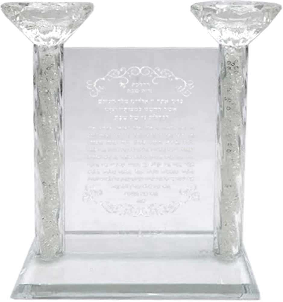 Crystal Candlestick with Blessing