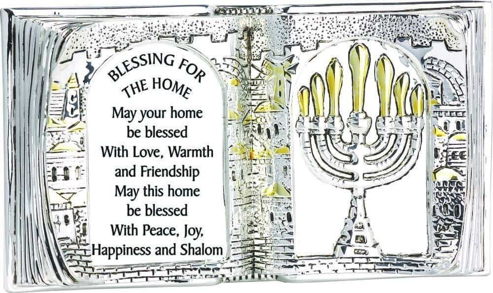 Soporte en forma de libro: La bendición del hogar en inglés
