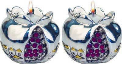 Shabbat Candleholder: Pomegranate Shape
