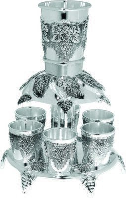 Wine Fountain: Grape Design – Silver Plated