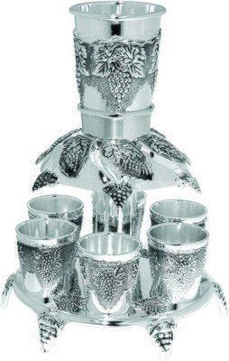 Wine Fountain: Grape Design – Silver Plated