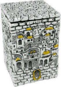 Caja de Tzedakah: Diseño Jerusalém