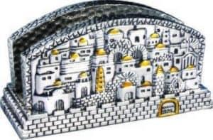 Cardholder or Napkin Holder: Jerusalem Design