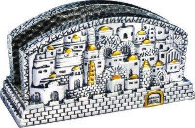 Titular de tarjetas o servilletas: Diseño de Jerusalém