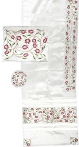 Tallit and Kippah Set: Pomegranate