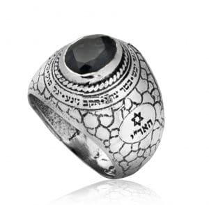 Anillo de Plata con Piedras Preciosas de Cuarzo Ahumado - Ana Bekoac