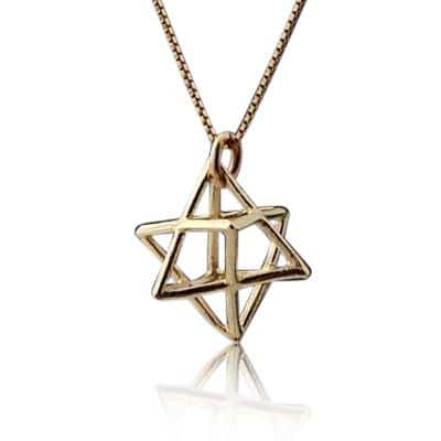 9K Gold Merkaba Necklace