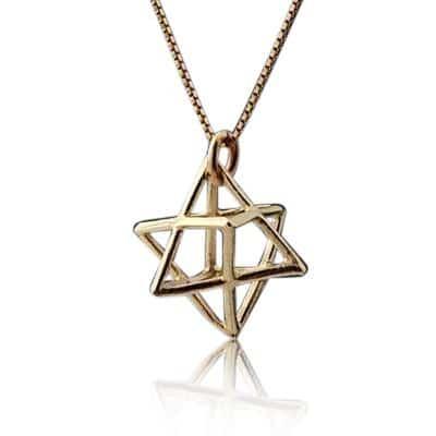 9K Gold Merkaba Necklace