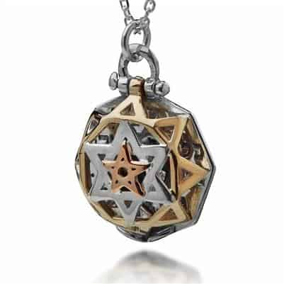 """Five Metals Kabbalah Necklace -""""Tikun Hava"""""""