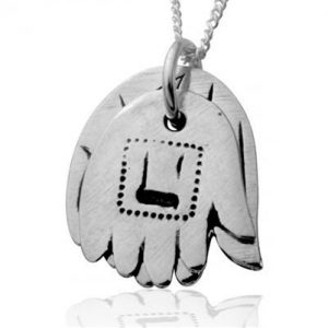 Sliver Hamsa Hands Necklace