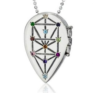 Sliver and Precious Gems Tree of Life Necklace