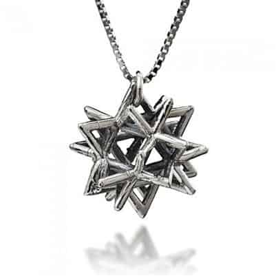 Silver Merkaba Necklace