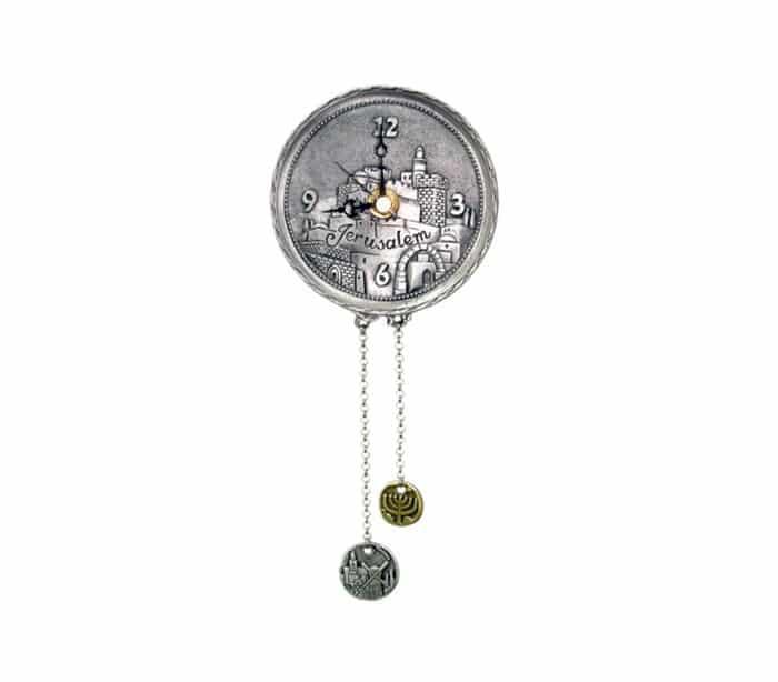 Reloj Redondo con Diseño del Paisaje de Jerusalém