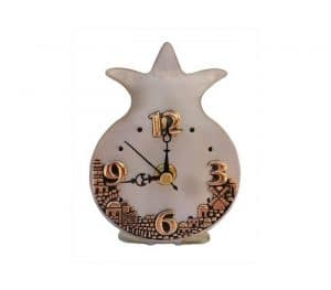 Pomegranate and Jerusalem Table Clock