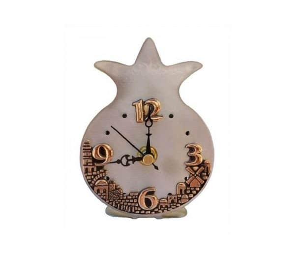 Pomegranate and Jerusalem Table Clock