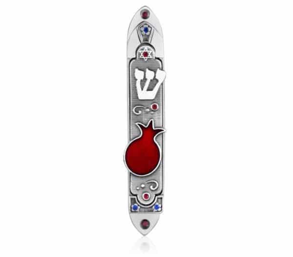 Pomegranate Mezuzah Case