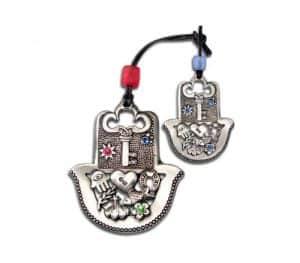 Hamsa con diseño de llave
