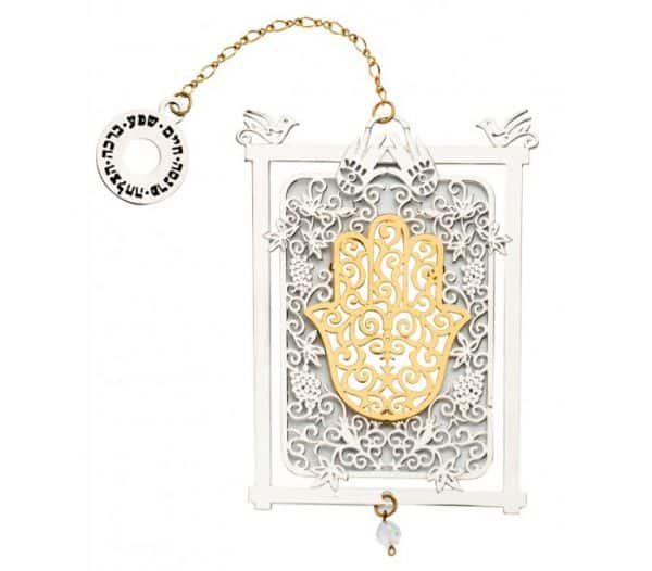 Laced Hamsa within a Frame