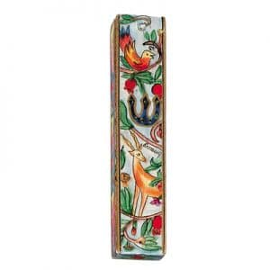 Deer and Bird Mezuzah