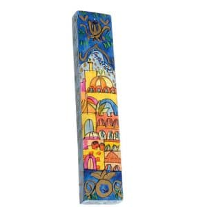Shades of Blue Mezuzah