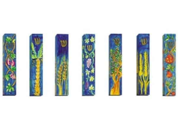 Seven Species Mezuzah Small