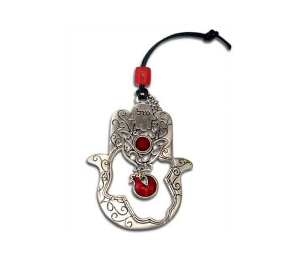 A Hollow Hamsa with a Hanging Pomegranate