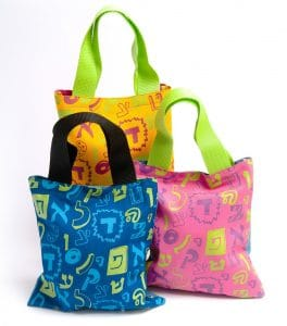 Tote Bag - Fun Aleph Bet (Mini)